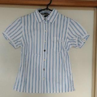 ギャップ(GAP)のGAP ストライプ柄半袖ブラウス 美品(シャツ/ブラウス(半袖/袖なし))