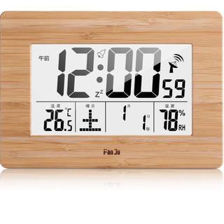 デジタル目覚まし時計 電波、室内温度| 超大型ディスプレイ| ムーンフェイズ(置時計)