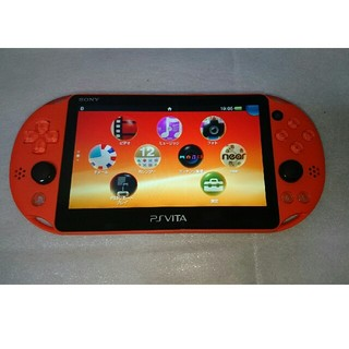 プレイステーションヴィータ(PlayStation Vita)のPSVita PCH-2000 オレンジ 本体のみ(携帯用ゲーム本体)
