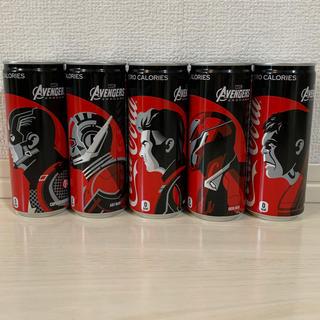 マーベル(MARVEL)のアベンジャーズ  エンドゲーム  限定パッケージ コカ コーラ ゼロ 人気5缶(ソフトドリンク)