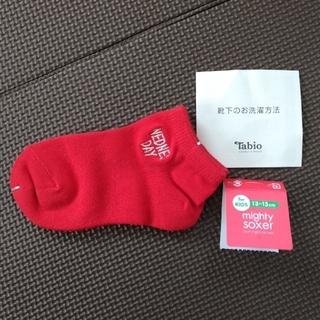 クツシタヤ(靴下屋)の◆靴下屋◆13~15cm◆ベビー◆靴下◆赤◆シンプル◆(靴下/タイツ)