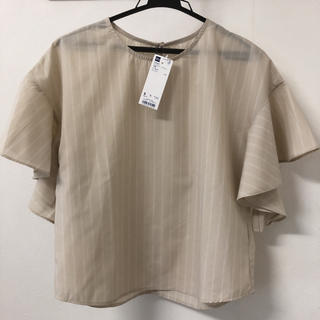 ジーユー(GU)のブラウス ストライプ(シャツ/ブラウス(半袖/袖なし))