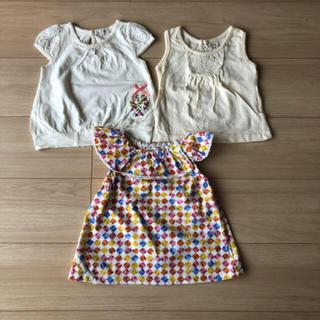 セラフ(Seraph)のセラフ カットソー ノースリーブ 3点 女の子 子供服 80(Tシャツ)