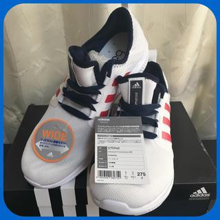 アディダス(adidas)の【新品✴︎未使用】アディダス 27.5cm ワイド シューズ ホワイト スポーツ(シューズ)