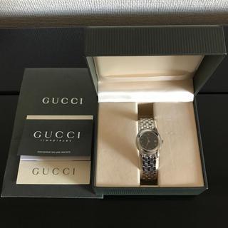 1058797b76 グッチ(Gucci)のGUCCI グッチ 5500L クォーツ レディース 黒文字盤 腕時計 稼働品(