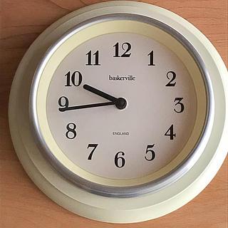 キャトルセゾン(quatre saisons)のキャトルセゾン掛け時計 アイボリー ドイツ製baskerville ジャンク(掛時計/柱時計)
