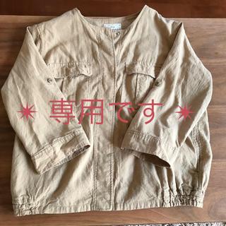 スタディオクリップ(STUDIO CLIP)のスタディオクリップ  コットンリネンブノーカラーシャツジャケット(ブルゾン)