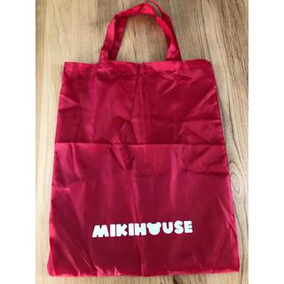 ミキハウス(mikihouse)のミキハウス ビニールバッグ赤(トートバッグ)