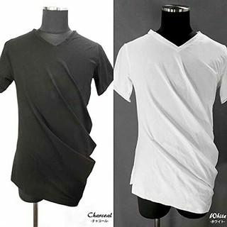 アルテミスクラシック(Artemis Classic)の【未着新品】アルテミスクラシック*さらさら素材VネックドレープT*ホワイトM(Tシャツ/カットソー(半袖/袖なし))