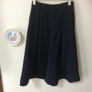 ジーユー(GU)のキュロットスカート  ネイビー  Mサイズ(キュロット)