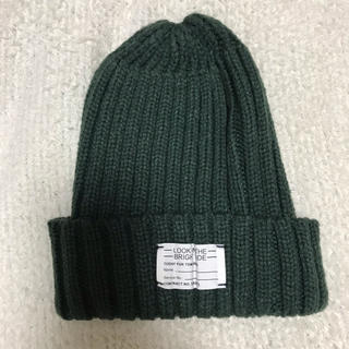 ジーユー(GU)のGU ニット帽 グリーン(ニット帽/ビーニー)