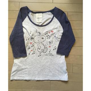 スヌーピー(SNOOPY)のSNOOPY ラグランTシャツ(Tシャツ(長袖/七分))