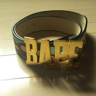 アベイシングエイプ(A BATHING APE)のアベイシングエイプ  ブラックマルチカモ ベルト Lサイズ(ベルト)