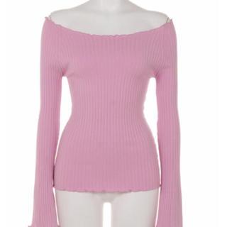 ダブルスタンダードクロージング(DOUBLE STANDARD CLOTHING)のダブルスタンダードスカラップオフショルニット(ニット/セーター)