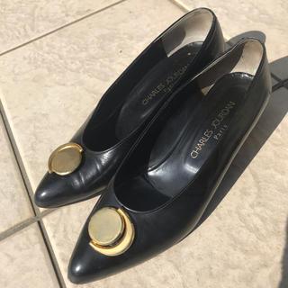 シャルルジョルダン(CHARLES JOURDAN)のシャルルジョルダン黒色パンプス 24.0cm(ハイヒール/パンプス)