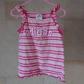 アディダス(adidas)のadidasボーダーキャミ(Tシャツ/カットソー)