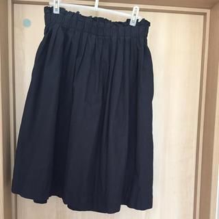 ムジルシリョウヒン(MUJI (無印良品))の無印良品 コットン フレアスカート(ひざ丈スカート)