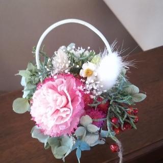 (送料無料)ドライフラワー+スチール缶に咲くお花(その他)