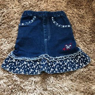 ニシマツヤ(西松屋)の♡デニムミニタイト♡  120サイズ(スカート)