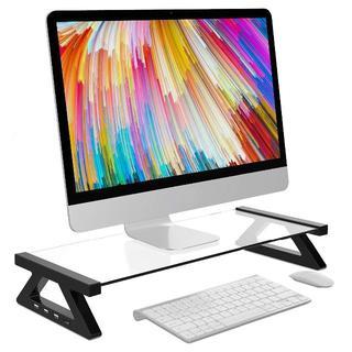 パソコン周りがスッキリ ☆ USBボート付きモニタースタンド(PC周辺機器)