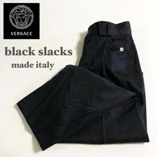 ジャンニヴェルサーチ(Gianni Versace)の▼ GIANNI VERSACE black slacks ▼(スラックス)