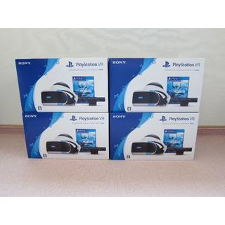 プレイステーションヴィーアール(PlayStation VR)の[4台] PlayStation VR WORLDS同梱版 CUHJ-16006(家庭用ゲーム機本体)
