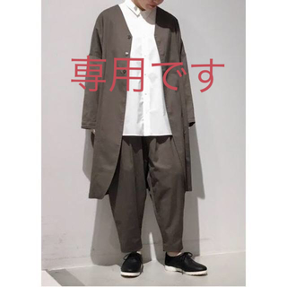 ヤエカ(YAECA)のno control air フルダルミニヘリンボンコート ジャケット 新品(ノーカラージャケット)