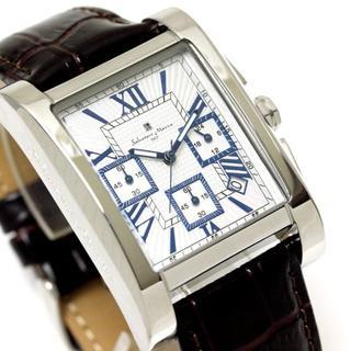 サルバトーレマーラ(Salvatore Marra)のサルバトーレマーラ 四角文字盤 メンズ 腕時計 クール クロノグラフ 革ベルト(レザーベルト)