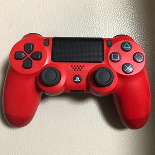 PS4コントローラー マグマレッド