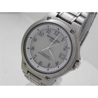 アルバ(ALBA)のALBA EPSILON ソーラー腕時計 チタン製 軽量 デイト(腕時計(アナログ))