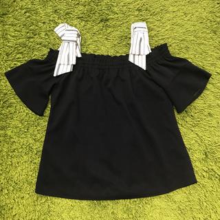 シマムラ(しまむら)のリボン付き オフショルダー(カットソー(半袖/袖なし))