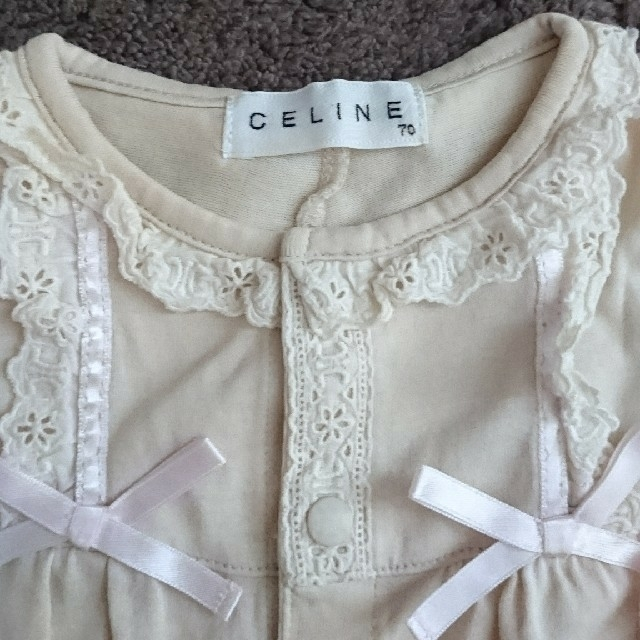 celine(セリーヌ)の♡専用♡セリーヌ  プチバトー半袖ロンパース キッズ/ベビー/マタニティのベビー服(~85cm)(ロンパース)の商品写真