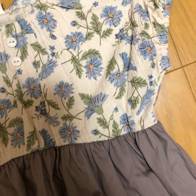しまむら(シマムラ)のteteatete テータテート 花柄ワンピース ブルー、イエロー キッズ/ベビー/マタニティのキッズ服 女の子用(90cm~)(ワンピース)の商品写真