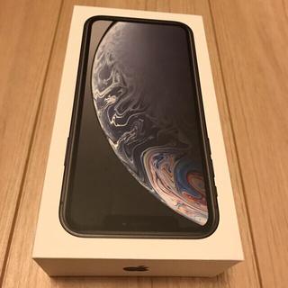 アップル(Apple)の新品 iPhone XR 64 sim フリー 黒 本体 一括購入済(スマートフォン本体)