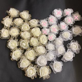 PE素材 バラヘッド造花 30個(その他)