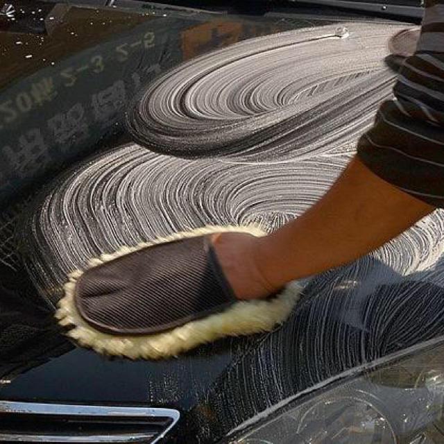 傷つけない!洗車用スポンジ 泡立ち◎ふわふわ素材 自動車/バイクの自動車(洗車・リペア用品)の商品写真