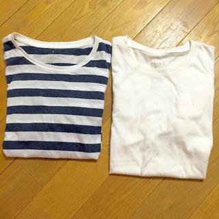 ムジルシリョウヒン(MUJI (無印良品))の無印良品 無地&ボーダーの長袖Tシャツ(Tシャツ(半袖/袖なし))