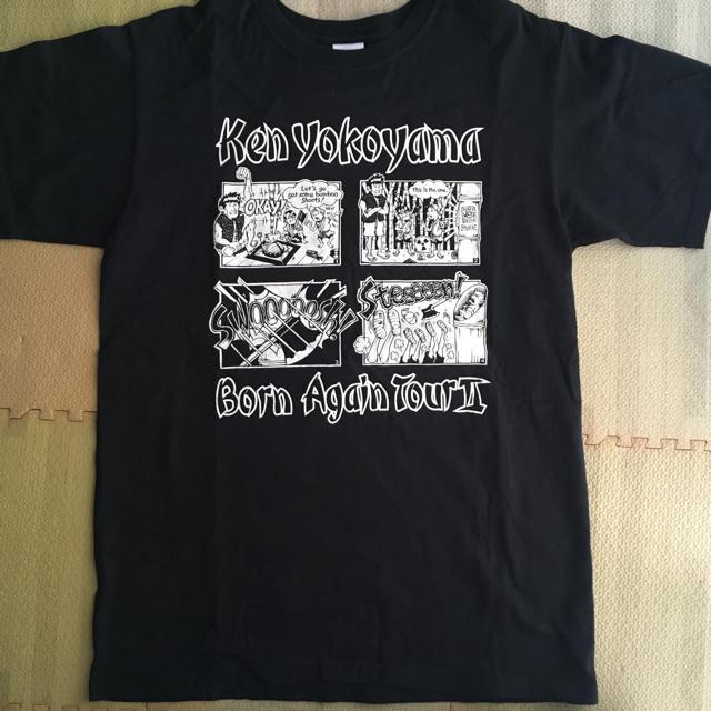 HIGH!STANDARD(ハイスタンダード)のKEN YOKOYAMA Tシャツ BornAgainTour エンタメ/ホビーのタレントグッズ(ミュージシャン)の商品写真