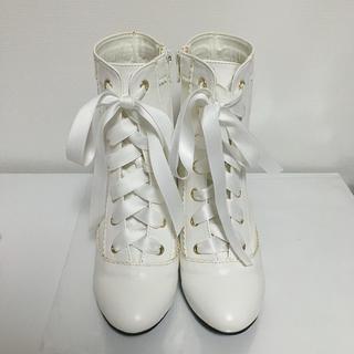 アンジェリックプリティー(Angelic Pretty)のAngelicPretty エレガントdollブーツ シロ Sサイズ(ブーツ)