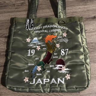 bc815c180751 JAPAN 刺繍 MA-1 トートバッグ カーキミリタリーバッグ メンズ(トートバッグ)