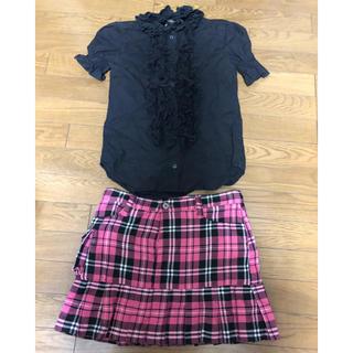 セクシーダイナマイト(SEXY DYNAMITE)のセクシーダイナイトロンドン スカートシャツ Tシャツワンピ マフラー等セット(ミニスカート)