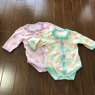 7ad00cdfab2a6 ニシキベビー(Nishiki Baby)の60サイズ ロンパース2枚セット(ロンパース)