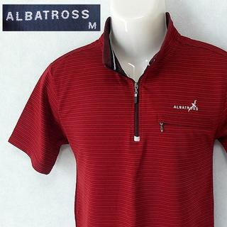 アルバトロス(ALBATROS)の【ALBATROSS】 美品 アルバトロス レッド半袖ポロシャツ サイズM(ウエア)