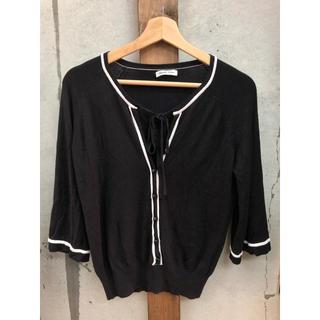 スタイルコム(Style com)の東京スタイル style com ニット  M  ブラック カットソー(ニット/セーター)