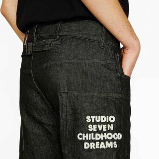 GU - STUDIO SEVEN レギュラージーンズ 黒 S