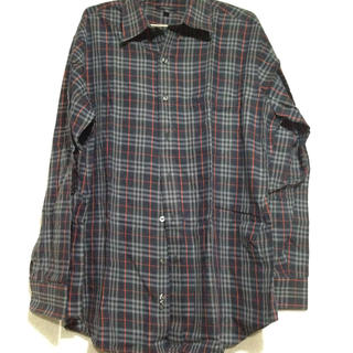 バーバリー(BURBERRY)のバーバリー 長シャツ メンズ ネイビーチェック(Tシャツ/カットソー(七分/長袖))
