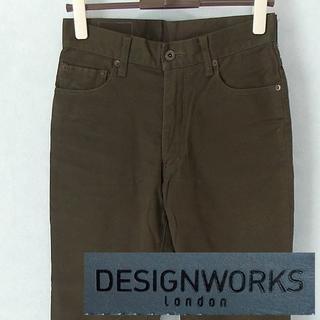 デザインワークス(DESIGNWORKS)の【DESIGN WORKS】 美品 デザインワークス オリーブ無地ボトムス 29(チノパン)