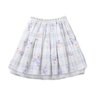 ロディスポット(LODISPOTTO)のミルキーチェックローズスカート(ひざ丈スカート)