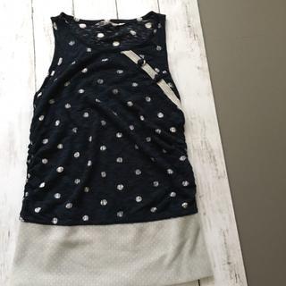 ロウロウ(ROUROU)のROUROU 水玉ノースリーブカットソー(カットソー(半袖/袖なし))