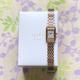 アガット(agete)のagete ㊱  腕時計・稼動品✨(替えベルト付き)(腕時計)